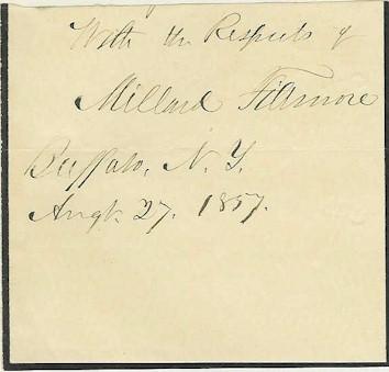 Millard Fillmore Autograph Signature